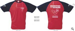 Rozměry a umístění potisku trička