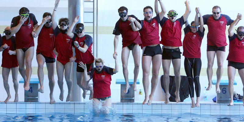 Rekordní štafetový pokus ve 24 hodinovém plavání pod vodou